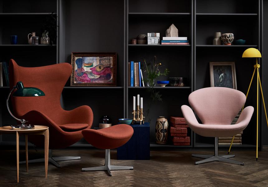 Fauteuil Egg Fritz Hansen et fauteuil Swan