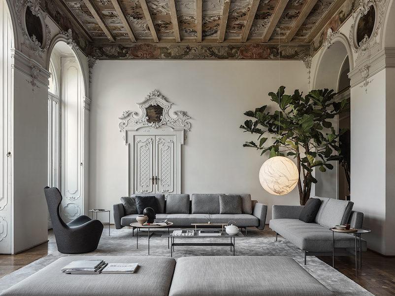 Salon moderne avec Canapé SAKÉ B&B Italia par Piero Lissoni